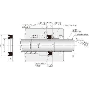 NOK パッキン USH 20 28 5 (CU0212K0) ピストン・ロッドシール両用パッキン USH型|dendouki2