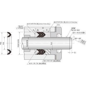 NOK パッキン V99F16263 (CV0085C0) ピストン・ロッドシール両用パッキン V99F型 dendouki2