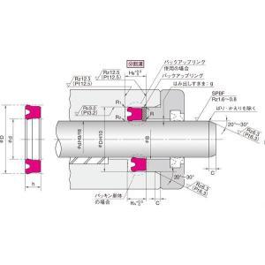 NOK パッキン UPI 140 160 15 (FU1327D0) ピストン・ロッドシール両用パッキン UPI型|dendouki2