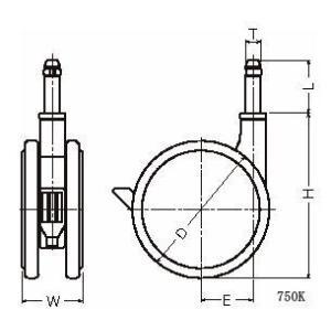 ハンマーキャスター 750K-FA1100 グレー dendouki