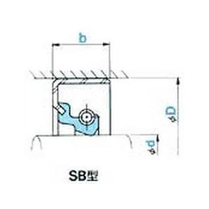 NOK オイルシール SB10513514F (A84153A3) SB型|dendouki