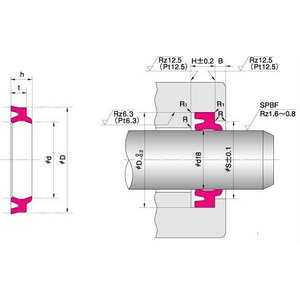NOK パッキン LBH25334.56F (CL0031C2) LBH型 ダストシール|dendouki