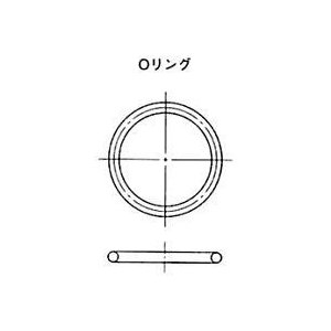 NOK Oリング NBR-70-1 G25-N (CO00200A0) 太さφ3.1シリーズ(固定用、運動用)|dendouki