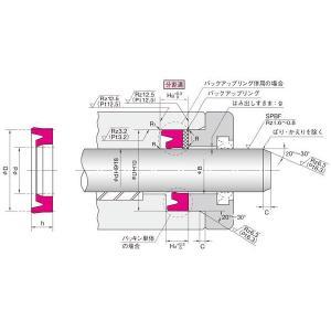 NOK パッキン IDI25356 (FU0279F0) ロッドシール専用パッキン IDI型|dendouki