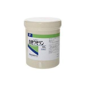 【第3類医薬品】【ケンエー】 白色ワセリン (P) 500g  軟膏剤