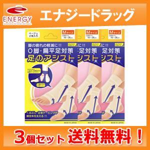 【送料無料!3個セット!】【テルコーポレーション】美脚足のアシスト ベージュ 2枚入り×3個セット Mサイズ(足首まわり16〜26cm)|denergy