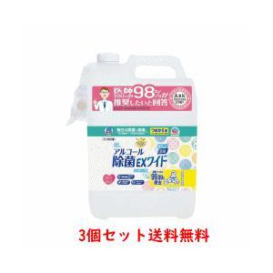 【3個セット送料無料】【アース製薬】ヘルパータスケ らくハピ アルコール除菌EXワイド つめかえ(5L)×3 denergy