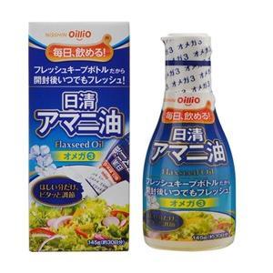 【日清オイリオグループ】日清アマニ油 145g フレッシュキープボトル