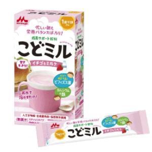 【森永乳業】こどミル スティックタイプ イチゴ&ミルク 18g×12本|denergy