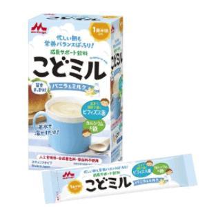【森永乳業】こどミル スティックタイプ バニラ&ミルク 18g×12本