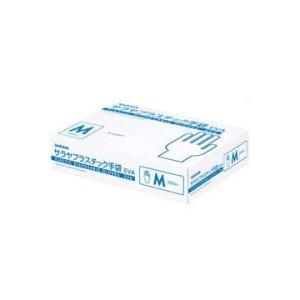 【サラヤ】  プラスチック手袋 EVA Mサイズ 200枚入 denergy
