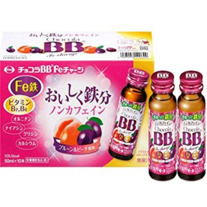 【エーザイ】チョコラBB Feチャージ ノンカフェイン 50ml瓶×10本