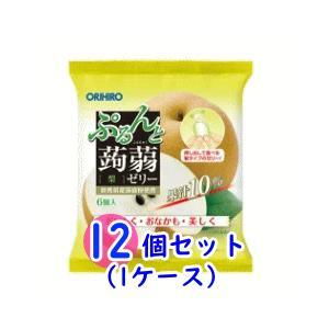 【オリヒロ】ぷるんと蒟蒻ゼリーパウチ 梨(20g×6個)×12