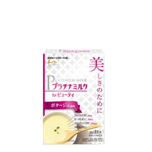 【雪印ビーンスターク】プラチナミルク フォー ビューティ  ポタージュ風味 スティックタイプ 10g×14本入|denergy