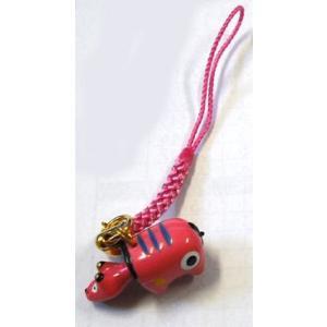 幸運を運ぶ 会津の赤べこストラップ 【ピンク色】