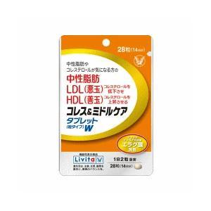 【大正製薬】コレス&ミドルケアタブレット 粒タイプ W (28粒)