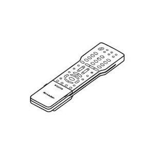 (在庫あり・即納品) (メール便発送も可能)  SHARP純正パーツ テレビ用リモコン 0106380290(0126380028の代用品) AQUOS シャープ