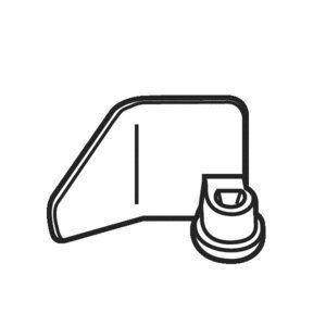 (メール便発送も可能)  Panasonic純正パーツ ライスブレッドクッカー用小麦パン羽根  ADA03-171