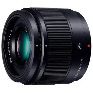Panasonic 単焦点レンズ マイクロフォーサーズ用 LUMIX G ブラック H-H025-K パナソニック ルミックス|denkichiweb