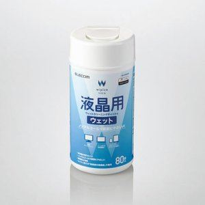 エレコム ELECOM 液晶用ウェットクリーニングティッシュ ボトル 80枚 WC-DP80N4の画像