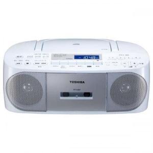 TOSHIBA  CDラジカセ ラジオ+CD+カセットテープ  シルバー TY-CDS7 東芝