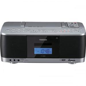 東芝 TOSHIBA CDラジオカセットレコーダー ワイドFM対応 シルバー TY-CDX91-S