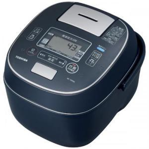 東芝 TOSHIBA 炊飯器 真空圧力IHジャー炊飯器(5.5合炊き)インディゴブルー RC-10V...