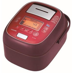 TOSHIBA  真空圧力IH炊飯ジャー 5.5合 合わせ炊き ディープレッド RC-10VXM-RS 東芝 炊飯器|denkichiweb