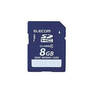 ELECOM Class4 SDHCメモリカード 8GB  MFFSD008GC4R エレコム|denkichiweb