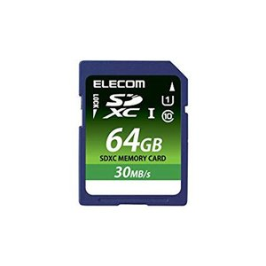 ELECOM Class10 UHS-I 対応SDXCメモリカード 64GB  MFFS064GU11LRA エレコム|denkichiweb
