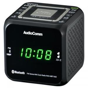 OHM クロックラジオ Bluetooth対応 MP3再生 ブラック AudioComm_RAD-M...