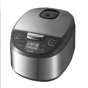 シャープ SHARP 炊飯器 マイコン炊飯ジャー 黒厚釜 球面炊き 5.5合 シルバー KS-S10...
