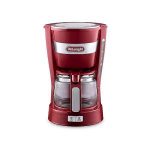 Delonghi ドリップコーヒーメーカー ICM14011J-R アクティブシリーズ パッションレ...