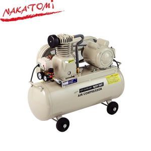 ナカトミ エアーコンプレッサー BCP-39T タンク容量39.5L ベルト式 吐出口1口 圧力調整器付 単相100V サーキットブレーカー付|denking