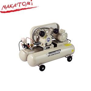 ナカトミ エアーコンプレッサー BCP-58T タンク容量58L(29L×2) ベルト式 吐出口2口 圧力調整器付 単相100V サーキットブレーカー付|denking