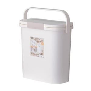 東谷 (AZUMAYA) 運べる防臭ペール RSD-73WH ごみ箱 生ごみバケツ 容量:約10L|denking