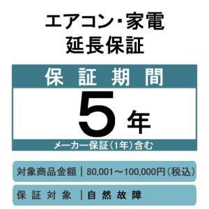 家電・エアコン延長保証サービス5年(商品価格80,001〜100,000円)|denking