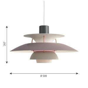 ルイスポールセン「PH5グレーグラデーション」LEDペンダントライト(引掛けシーリング用)
