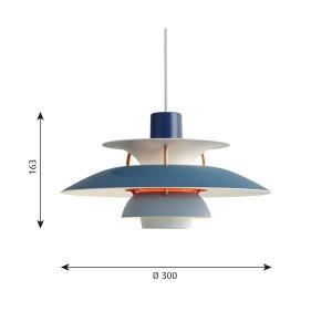 ルイスポールセン「PH5ミニブルーグラデーション」LEDペンダントライト(引掛けシーリング用)