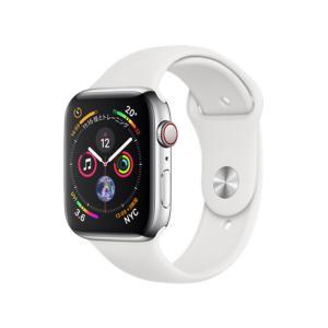 新品 Apple Watch Series 4 GPS+Cellularモデル 44mm MTX02J/A [ステンレススチールケース/ホワイトスポーツバンド][在庫あり][即納可] denkizoku