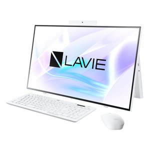 新品 NEC LAVIE Home All-in-one PC-HA700R2W6[27インチ/Core i7 10510U/メモリ8GB/HDD3TB+SSD256GB/Windows 10/Office 付き/DVD±R][在庫あり][即納可] denkizoku