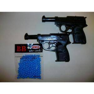 ルパン3世でお馴染みの銃! ワルサーP38 2個 + BB弾