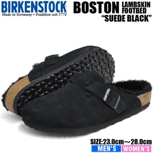 ビルケンシュトック サンダル メンズ レディース ボストン ファー ブラック BIRKENSTOCK BOSTON FUR BLACK 0259881 0259883|denpcy