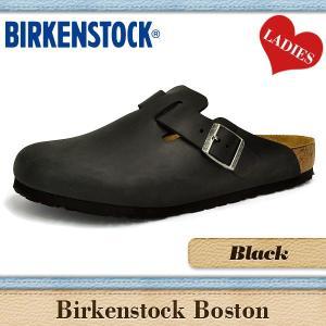 ビルケンシュトック サンダル レディース ボストン 通常幅 ブラック オイルド ヌバック レザー BIRKENSTOCK BOSTON 059461|denpcy