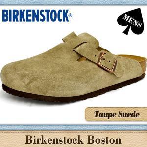 ビルケンシュトック サンダル メンズ ボストン 通常幅 トープスエード BIRKENSTOCK BOSTON TAUPE SUEDE 060461 denpcy
