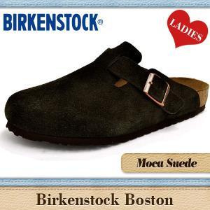 ビルケンシュトック サンダル レディース ボストン 通常幅 モカスエード BIRKENSTOCK BOSTON MOCA SUEDE 060901|denpcy