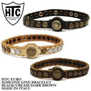 HTC 10,000 ワンライン ブレスレット ブラック/クリーム/ダークブラウン Hollywood Trading Company 10,000 ONE LINE BRACELET|denpcy