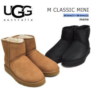 アグ ブーツ メンズ クラシック ミニ ブラック/チェスナット UGG CLASSIC MINI BLACK/CHESTNUT 1002072|denpcy
