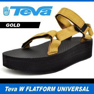 テバ サンダル レディース フラットフォーム ユニバーサル ゴールド Teva W FLATFORM UNIVERSAL GOLD 1008844-GLD denpcy