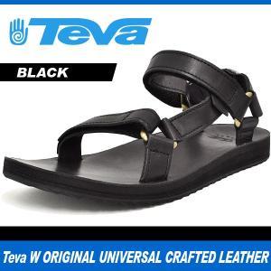 テバ サンダル レディース オリジナル ユニバーサル クラフテッド レザー ブラック Teva W ORIGINAL UNIVERSAL CRAFTED LEATHER BLACK 1010321 denpcy